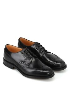 Ramsden Church's Northampton Black Leather Shoes Size 9 UK Fit F