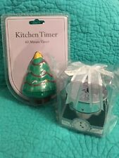 NIB Set Of 2 Mechanical Champagne In Bucket & Christmas Tree Kitchen Timers