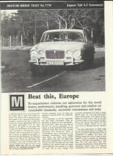 """Jaguar Xj6 4.2 automáticos prueba de carretera """"motor"""" reimpresión « venta folleto » de febrero de 1970"""