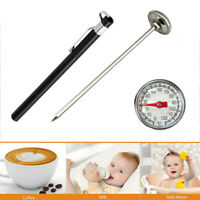 BBQ Food Cooking Meat Coffee&Milk Probe Thermometer Gauge Tool Stainless Steel