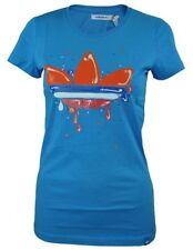 Magliette da donna blu in cotone taglia XS