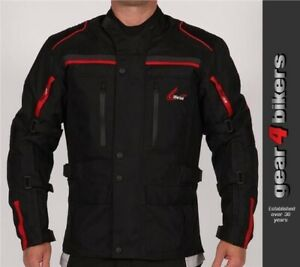Weise Atlanta Black Textile Motorcycle Armoured Jacket Mens Scooter Commuter