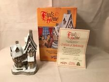 David Winter Cottage Fred's Home, Christmas 1991 Org. Box, Reg. Exc-Mint Cond