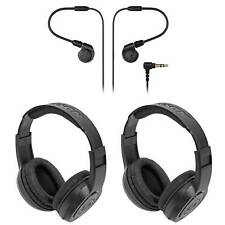 Audio Technica ATH-E40 Professional In-Ear Monitor Earphones+2 Samson Headphones