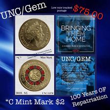 """2019 $2 TWO DOLLARS BRINGING THEM HOME 100 YEARS OF REPATRIATION """"C"""" MINT MARK"""