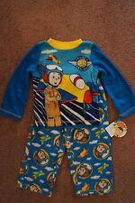 NEW Calliou Toddler Boys 2 Piece Pajamas 2T Fleece Warm Blue