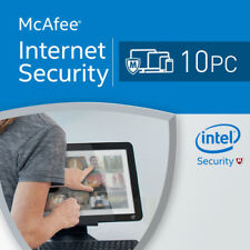 McAfee Intel Internet Security Anti Virus 2017 1 Year 10 User for Windows 10 Pcs