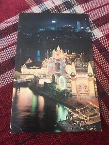 LUNA PARK SYDNEY AUSTRALIA BIG DIPPER WOODEN ROLLER COASTER POST CARD
