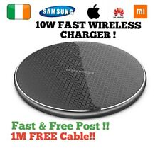 wireless charger charging pad dock fast quick iphone 12 11 X XR 8 Huawei Samsung
