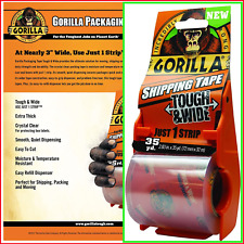 Gorilla Shipping Packaging Tape Tough Amp Wide With Dispenser 283 X 35 Yd 34m