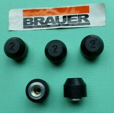 Pack of 5 Brauer NP/06 Neoprene Pads with threaded insert for Toggle ClampS