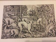 Vintage Book Plate - Deer Hunting - Duvet - 1925