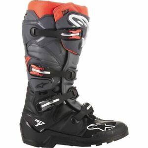Alpinestars Tech 7 Enduro Boots - Black/Grey/Red, All Sizes