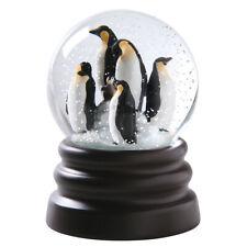 "Musical Penguins Snow Globe Plays ""Let It Snow"""
