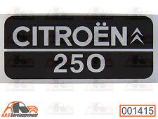 MONOGRAMME autocollant (STICKER) de coffre / malle de Citroen 2CV AK 250  -1415-
