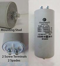 120 MFD 250 Volt Run capacitor w/ mounting stud