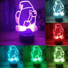 for Among Us Game Night light 7 Color Changing 3d IMPOSTER Table decoration LED