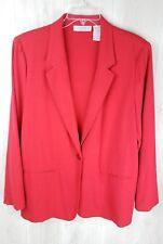 Sag Harbor Women's Blazer Jacket Size 16 Red One Button Holiday