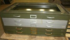 5 Drawer Blueprint Stackable Cabinet Green W/ Tan Back W/O Top A6~ 18586LR