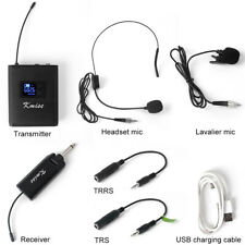 UHF Wireless Lavalier Microphone Headset Lapel Mic with Bodypack Transmitter