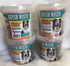 Antos Cerea XS Mini Tooth Brushes Mixed ~ 4 Tubs x 50 pcs ~ Vegetarian Dog Chews