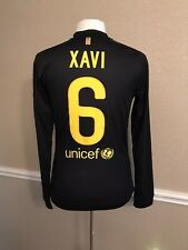 Barcelona Spain Xavi Player Issue Meshed Jersey Md Prepared Football Nike Shirt