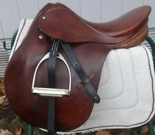 "STUBBEN English/Jump Show Saddle - WOTAN - 16.5"" Seat Size - BEAUTIFUL!"
