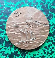 Marine - Belle Médaille par Albert David de 59 mm Association des Marins - 1960