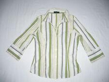 Gestreifte 3/4 Arm Damenblusen, - tops & -shirts aus Baumwolle und Stretch