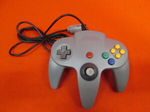 Classic Wired Controller Joystick For Nintendo 64 Game System Gray Gamepad