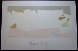 "Rare Signed Pegge Hopper Large Hawaiian Print ""Island Noon"""