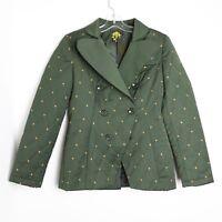 Nishe NWT women's green khaki quilted jacket long sleeve Size US 4 UK 8 ASOS