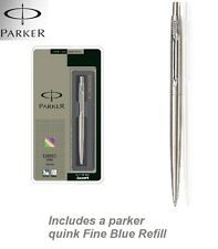 Parker Classic Stainless steel Chrome trim with Blue Quink Refill Fine Nib NEW