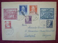 GERMANY TO HUNGARY / NICE MAIL FROM RUSSICHSE ZONE  / 1949