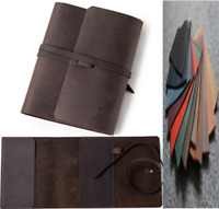 book jacket cover slipcase genuine cow leather customize handmade brown A886