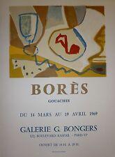 Francico Bores Affiche originale en Lithographie Art Abstrait Montparnasse