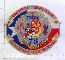 Texas - Houston Station 73 TX Fire Dept Patch - Born Brave - Sworn To Save