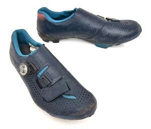 Shimano RX8 Carbon Gravel Bike Shoes EU 41 US Women 8.5 Blue Camo 2 Bolt BOA