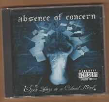"""ABSENCE OF CONCERN cd """"Open Letters To A Closed Mind"""" 2006 Kik It NEW Sealed"""