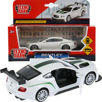 Bentley Continental GT3 White Diecast Model Car Scale 1:43