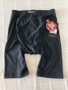 NWT! Craft Men's Large Active WindStopper Gunde Black Base Layer Shorts TS1