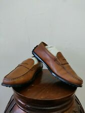 Men's Tods Leather Loafers Moccasin Slip On Shoes size 8 US