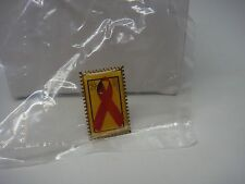 RED RIBBON-AIDS AWARENESS-USA 29 CENT STAMP POSTAL-PIN-NEW-CHECK IT OUT