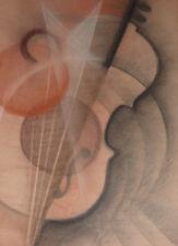 Avantgarde Musikinstrument Geige Violine Gemälde Futurismus Konstruktivismus