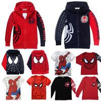 Toddler Kids Boy Spiderman T-Shirt Tops Hoodies Sweatshirt Jacket Coat Clothes