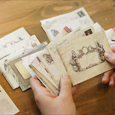 12pcs Envelopes Mini Vintage Retro Korean Style Airmail Brown Kraft Paper Gift