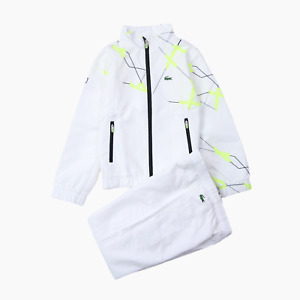 Lacoste Sport Kids Abstract Shell Tracksuit White Age 8 Years BNWT Childs Boys