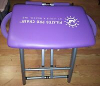 Pilates Pro Chair Purple Lifes A Beach with Extra set of Springs