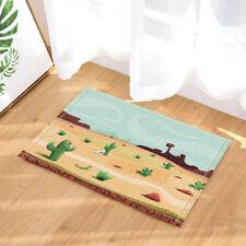 Door Mat Bathroom Rug Bedroom Carpet Bath Mat Non-Slip Desert lizard and cactus