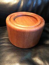 Mid Century Danish Modern Teak Wood NISSEN Denmark Ice Bucket Cooler Vintage